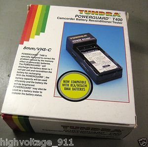 Tundra PowerGuard T400 8mm VHS-C Camcorder Battery NiCad Reconditioner / Tester