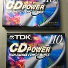 TDK Blank Audio Cassette Tapes - 110-Minute - Type II - High Bias - 2 Pack - NEW