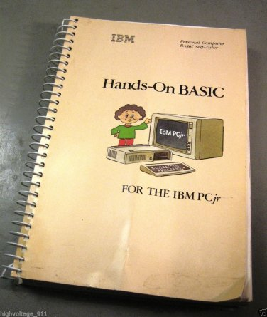 IBM PC PCjr Hands-On BASIC Programming Programmers Manual (1983) - VG - w/extras