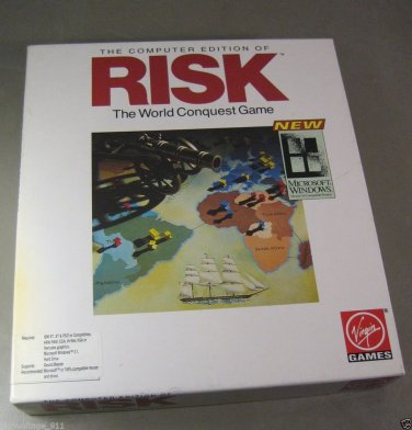 """RISK the World Conquest Game Computer Edition Windows 3.1 on 3.5"""" & 5.25"""" Floppy"""