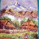 Painting of Mountain with Village (50cm x 38cm) # CLKPA-4