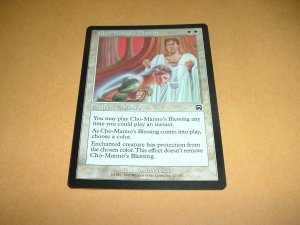 Cho-Manno's Blessing (Magic MTG: Mercadian Masques Card #12) White Common, for sale