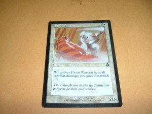Pious Warrior (Magic MTG: Mercadian Masques Card #34) White Common, for sale