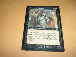 Cateran Persuader (Magic MTG: Mercadian Masques Card #124) Black Common, for sale
