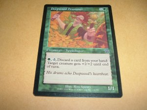 Deepwood Drummer (Magic MTG: Mercadian Masques Card #239) Green Common, for sale