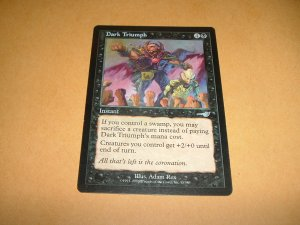 Dark Triumph (Magic, The Gathering MTG: Nemesis Card #55) UNPLAYED Black Uncommon, for sale