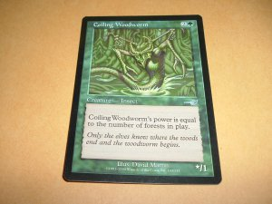 Coiling Woodworm (Magic, The Gathering MTG: Nemesis Card #103) UNPLAYED Green Uncommon, for sale