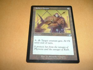 Belbe's Armor (Magic, The Gathering MTG: Nemesis Card #126) UNPLAYED Artifact Uncommon, for sale