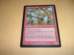 Flowstone Wall (Magic, The Gathering MTG: Nemesis Card #86) Red Common, for sale