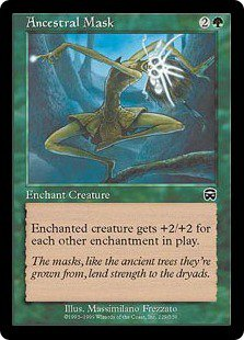 Ancestral Mask (Magic MTG: Mercadian Masques Card #229) Green Common, for sale