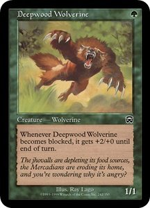 Deepwood Wolverine (Magic MTG: Mercadian Masques Card #242) Green Common, for sale