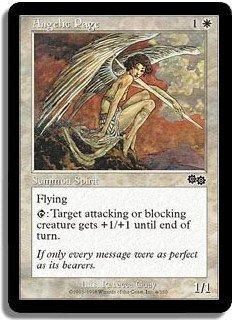 Angelic Page (Magic MTG: Urza's Saga Card #4) White Common, for sale