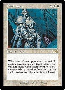 Opal Titan - MINT (Magic MTG: Urza's Saga Card #26) UNPLAYED White RARE, for sale