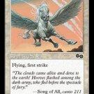 Pegasus Charger (Magic MTG: Urza's Saga Card #30) White Common, for sale