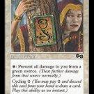 Rune of Protection: Green (Magic MTG: Urza's Saga Card #38) White Common, for sale