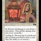 Rune of Protection: Red (Magic MTG: Urza's Saga Card #40) White Common, for sale