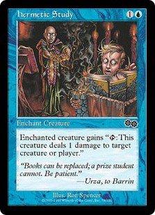 Hermetic Study (Magic MTG: Urza's Saga Card #78) Blue Common, for sale