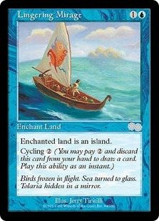 Lingering Mirage - NEAR MINT (Magic MTG: Urza's Saga Card #84) UNPLAYED Blue Uncommon, for sale