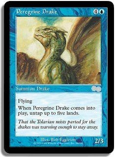 Peregrine Drake - MINT (Magic MTG: Urza's Saga Card #88) UNPLAYED Blue Uncommon, for sale