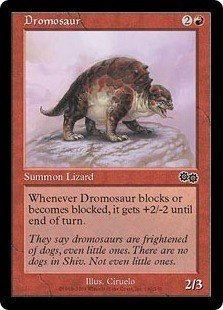 Dromosaur (MTG: Urza's Saga Card #182) Red Common, Magic the Gathering card for sale