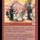 Jagged Lightning - NEAR MINT+ (Magic MTG: Urza's Saga Card #200) UNPLAYED Red Uncommon, for sale