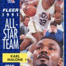 1991 Fleer Basketball Card #219 Karl Malone