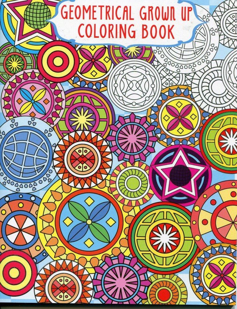 Grown Up Coloring Book Geometrical Designs 1