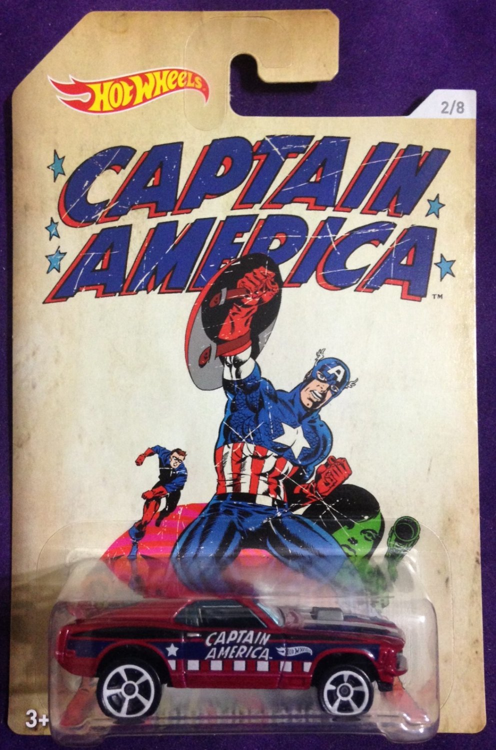 2016 Hot Wheels Captain America #2 70 Ford Mustang Mach 1