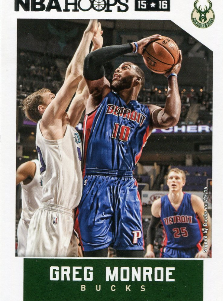 2015 Hoops Basketball Card #111 Greg Monroe