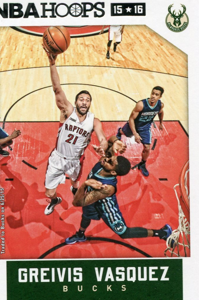 2015 Hoops Basketball Card #121 Greivis Vasquez