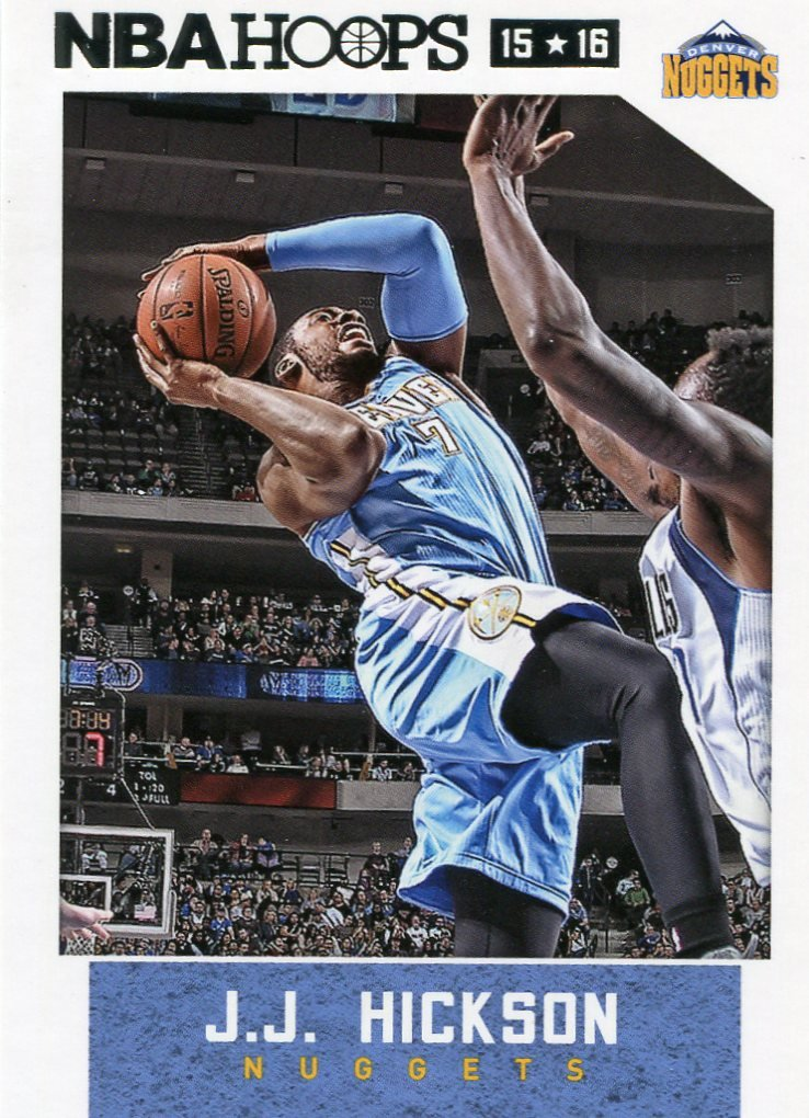 2015 Hoops Basketball Card #123 J J Hickson