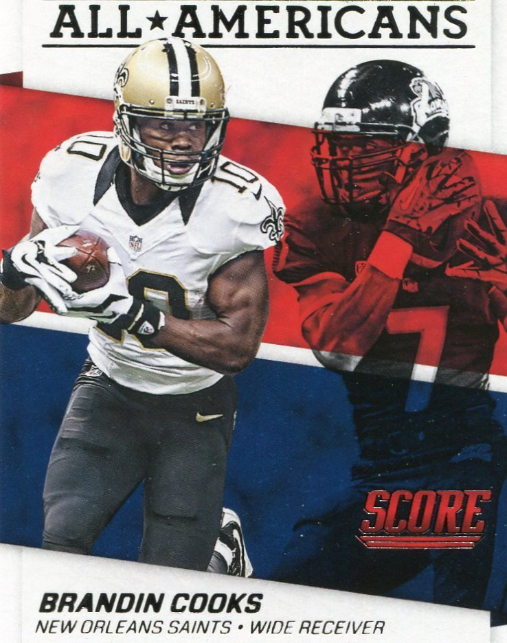 2016 Score Football Card All American #8 Brandin Cooks