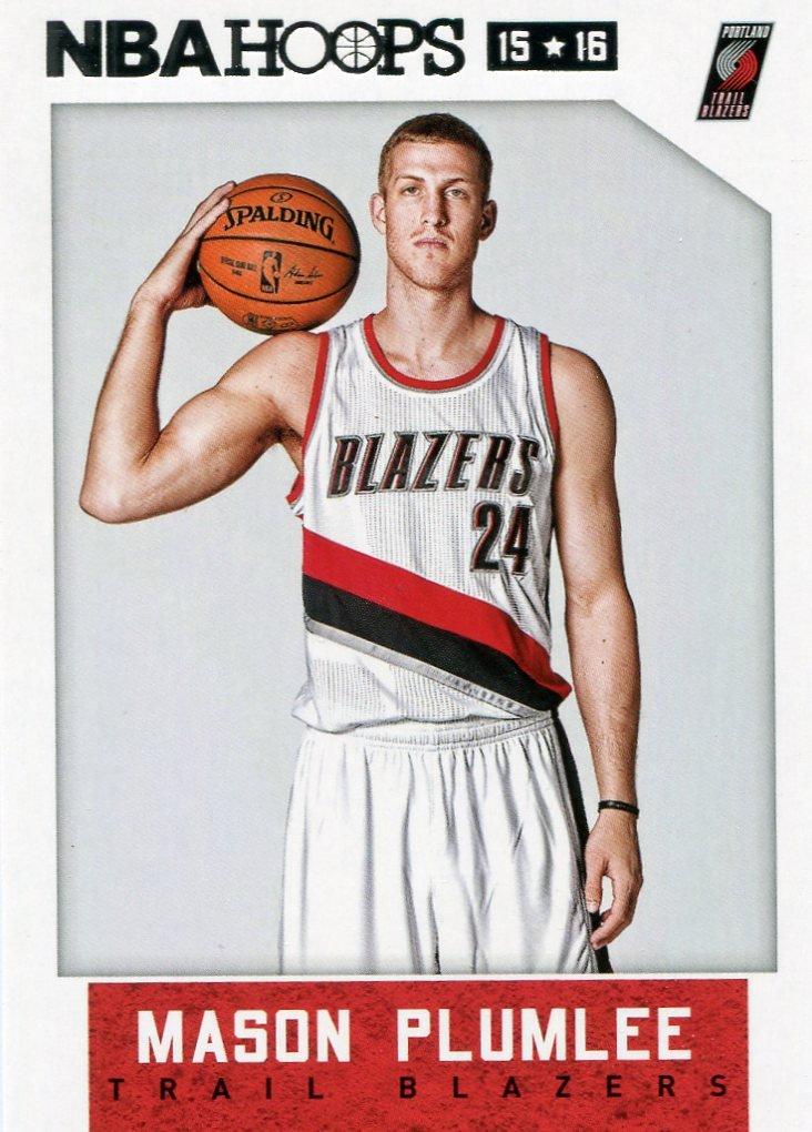 2015 Hoops Basketball Card #174 Mason Plumlee