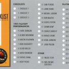 1993 Skybox Basketball Card #1 Checklist