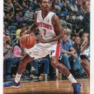 2014 Hoops Basketball Card #87 Brandon Jennings