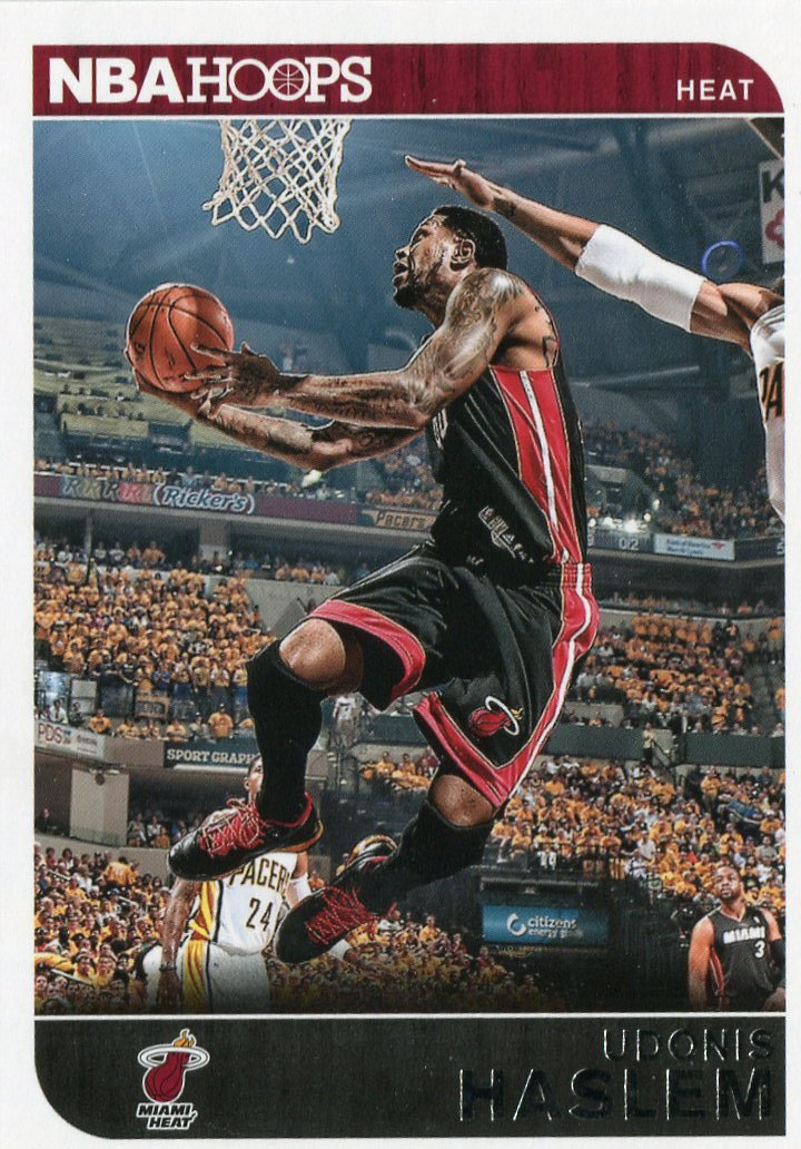 2014 Hoops Basketball Card #167 Udonis Haslem