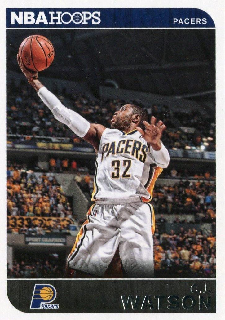 2014 Hoops Basketball Card #183 C J Watson