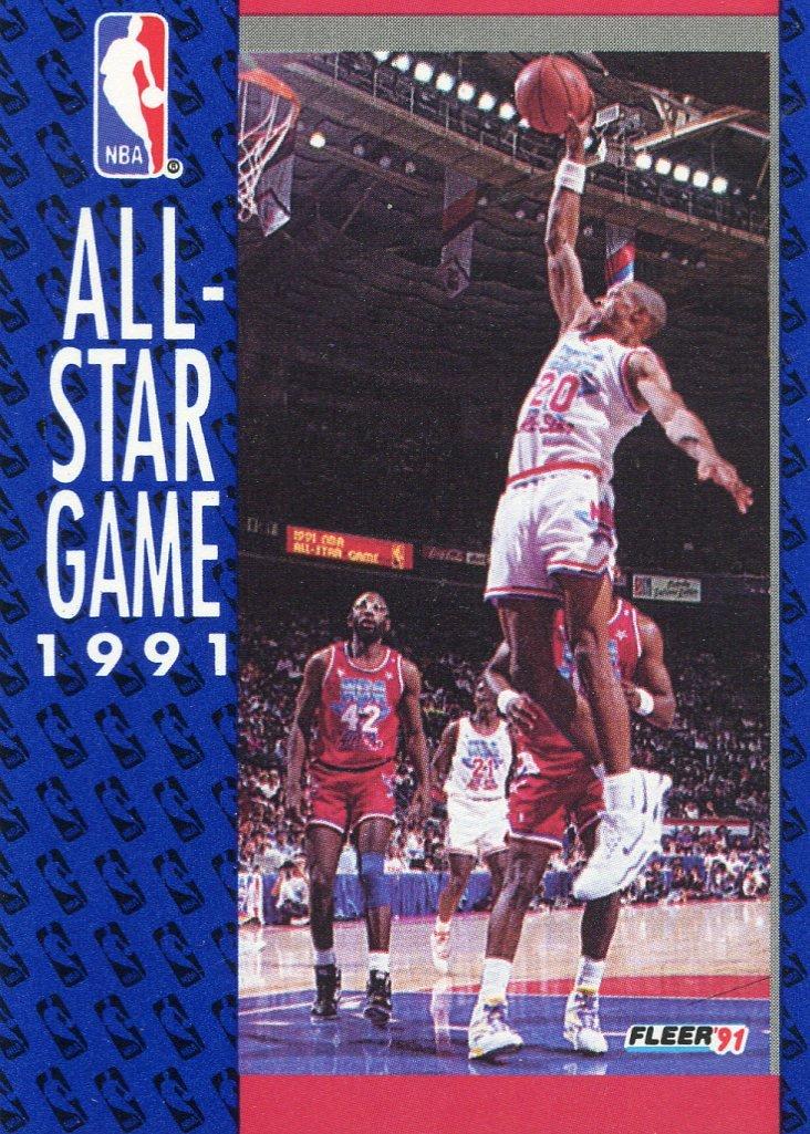 1991 Fleer Basketball Card #235 All Star Game