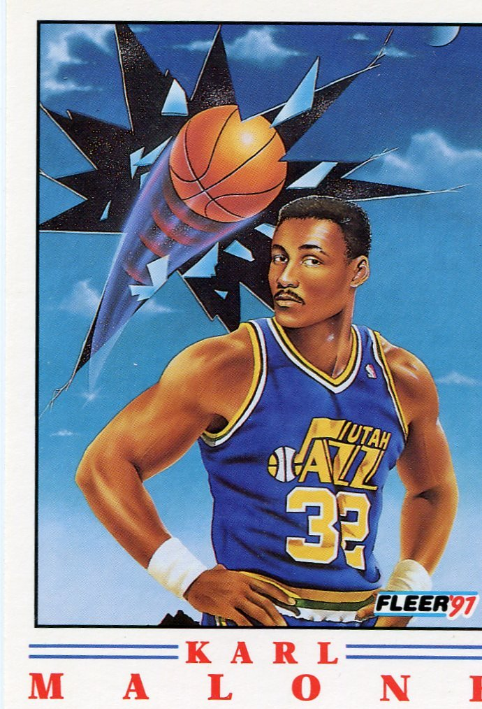 1991 Fleer Basketball Card Pro Vision #4 Karl Malone