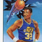 1991 Fleer Basketball Card Pro Vision #4 Karl Malone