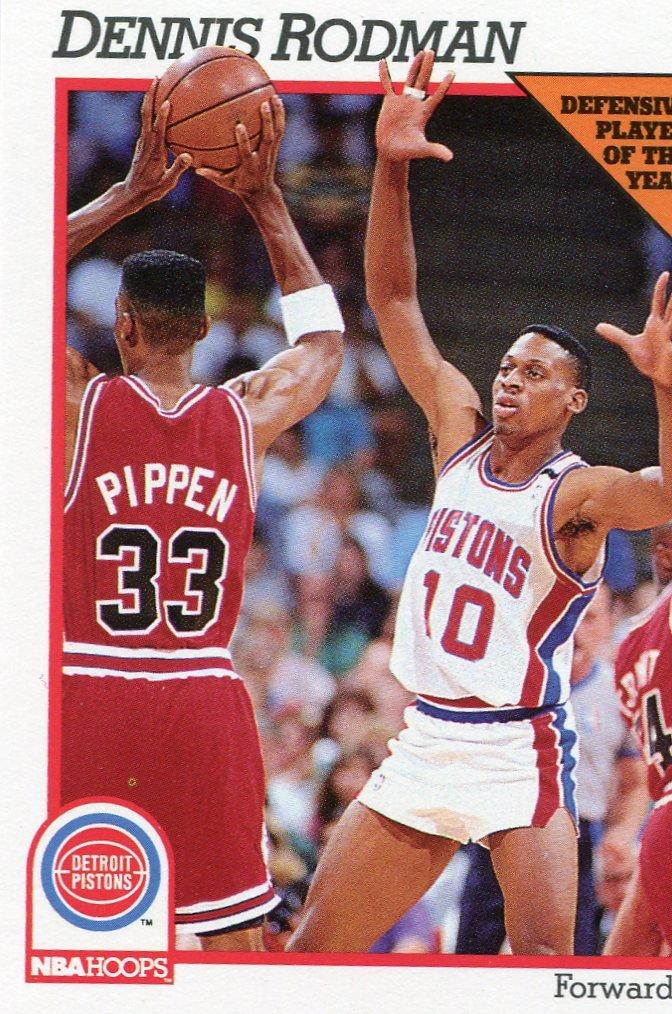 1991 Hoops Basketball Card #64 Dennis Rodman