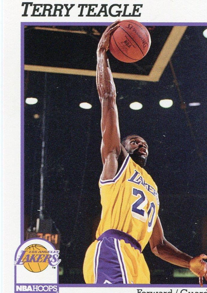 1991 Hoops Basketball Card #104 Terry Teagle