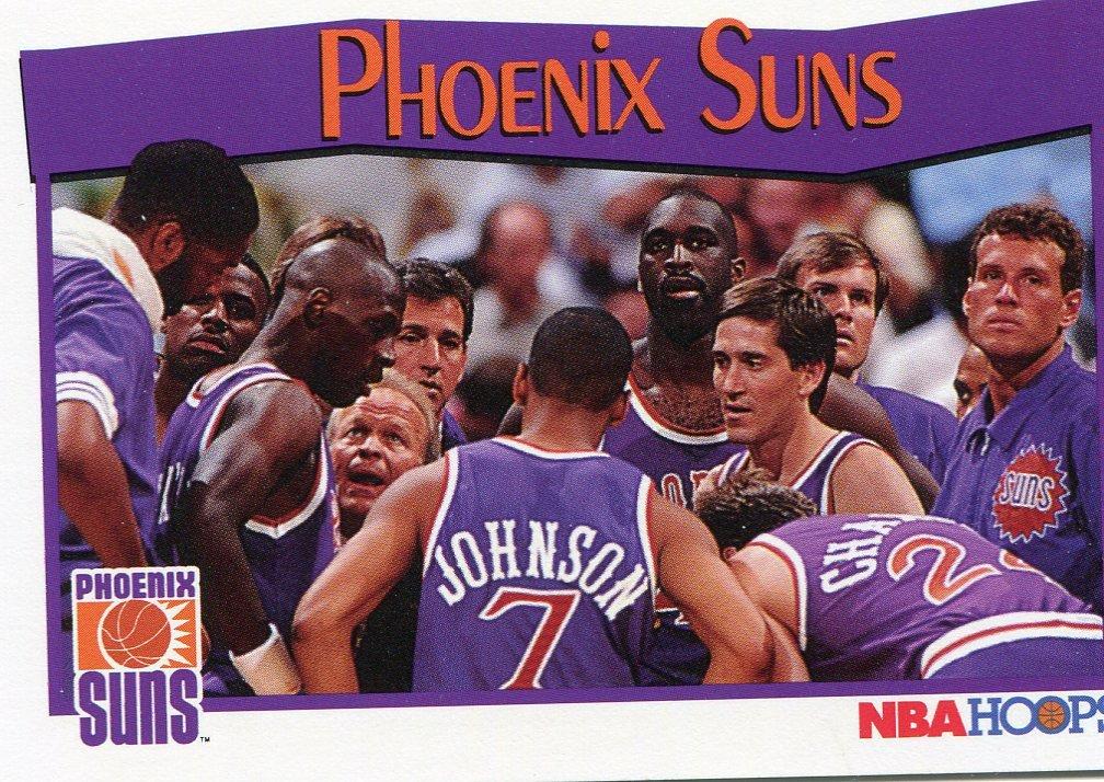 1991 Hoops Basketball Card #294 Phoenix Suns
