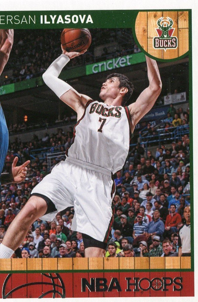 2013 Hoops Basketball Card #102 Ersan Ilyasova