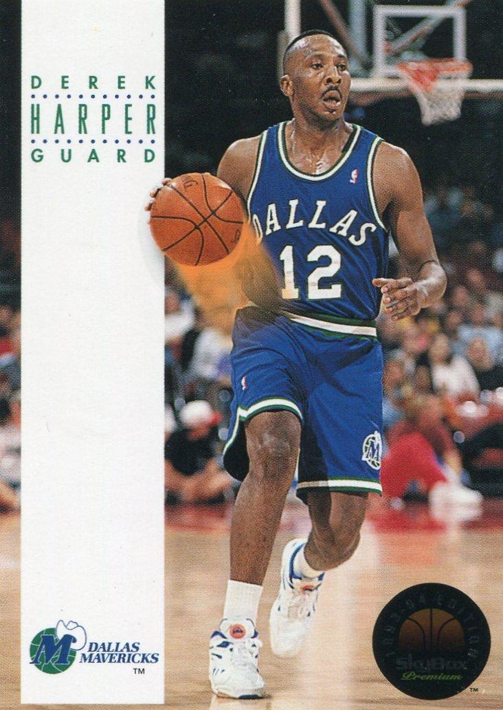 1993 Skybox Basketball Card #56 Derek Harper
