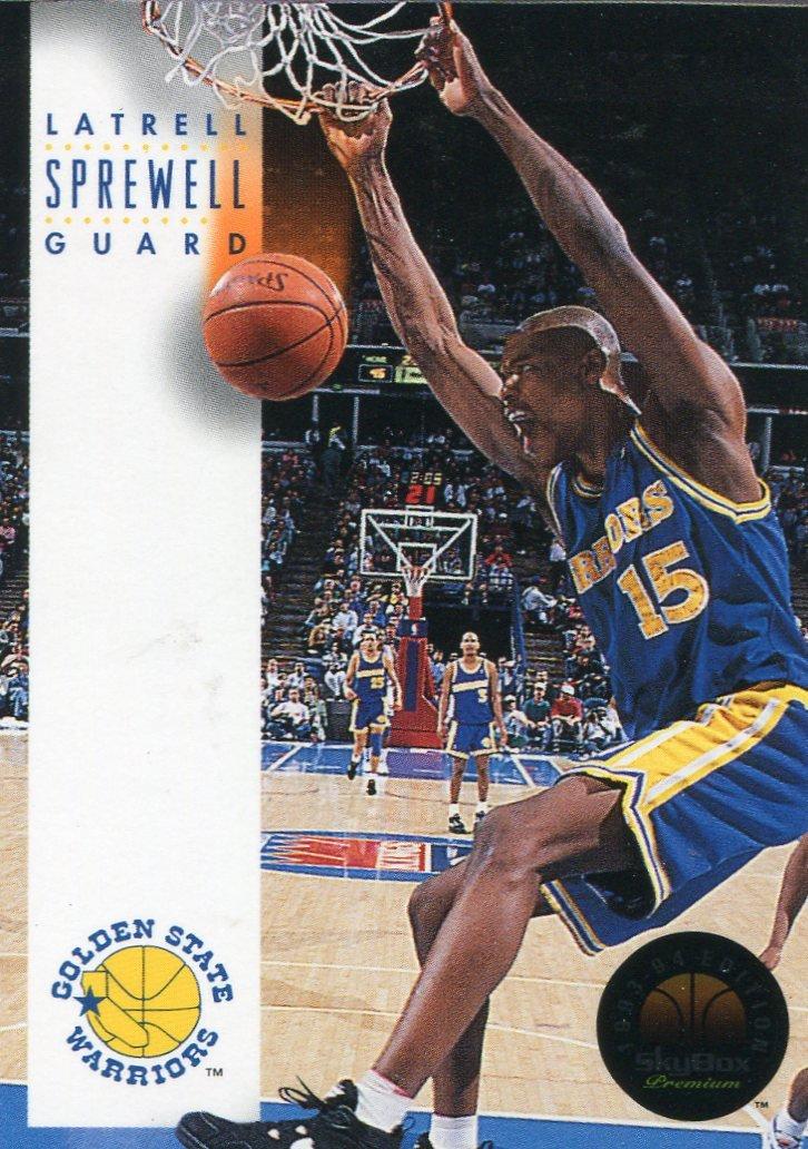 1993 Skybox Basketball Card #78 Latrell Sprewell