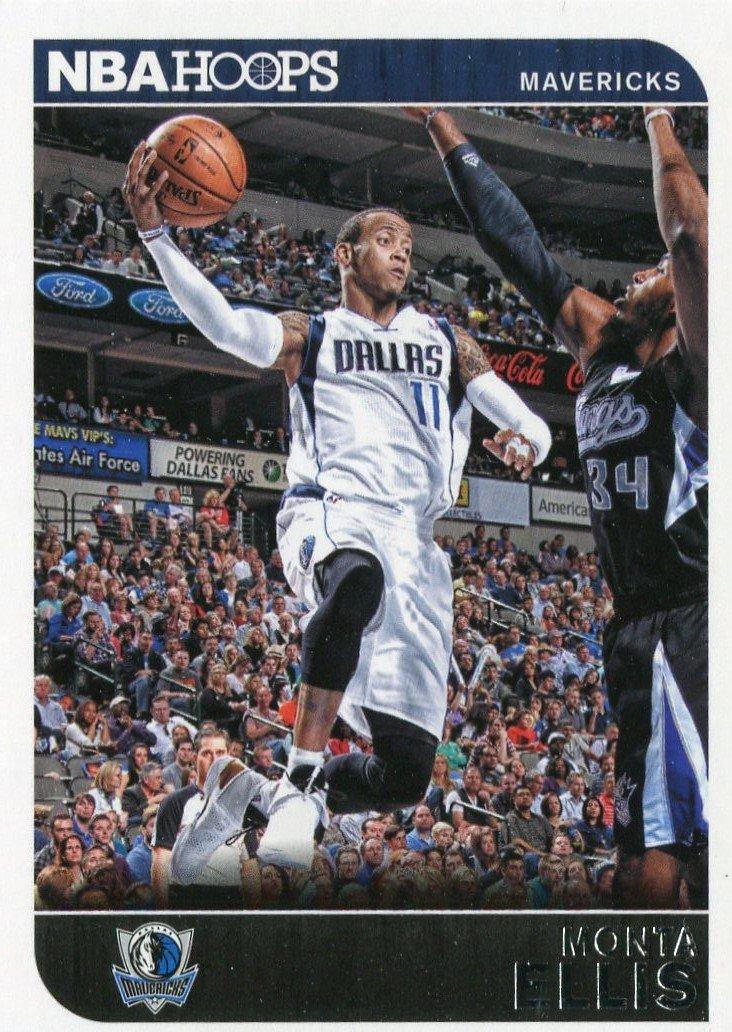 2014 Hoops Basketball Card #245 Monta Ellis