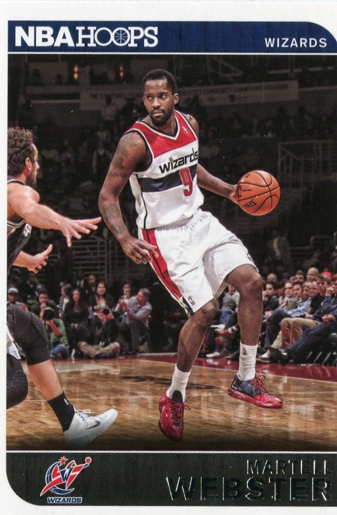 2014 Hoops Basketball Card #250 Martell Webster