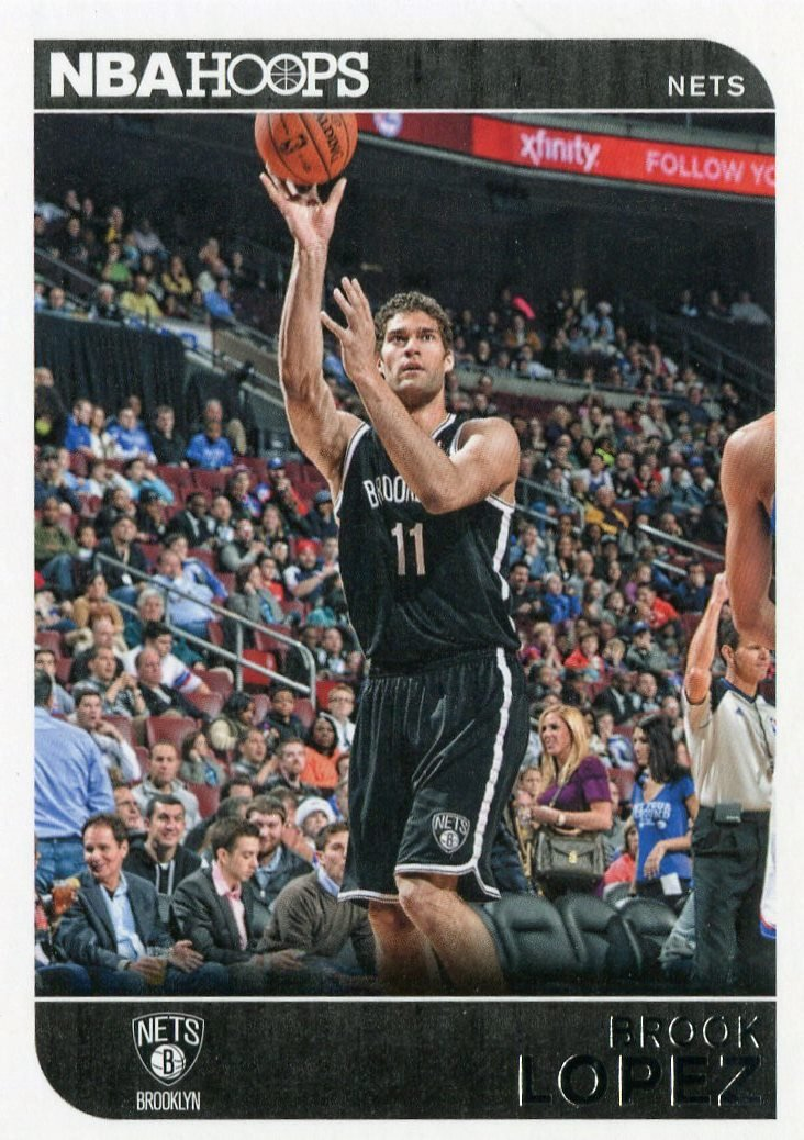 2014 Hoops Basketball Card #251 Brook Lopez