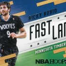 2014 Hoops Basketball Card Fast Lane #16 Ricky Rubio
